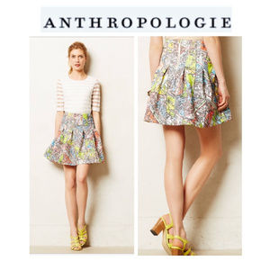 Anthropologie Paris Streets Skirt Sz 6